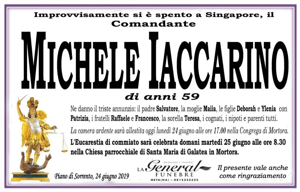 Piano di Sorrento, addio a Michele Iaccarino