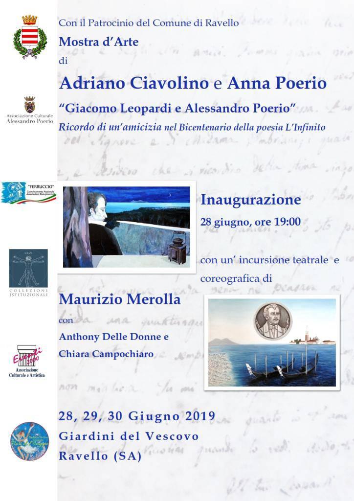 """Ravello. """"Giacomo Leopardi e Poerio"""""""