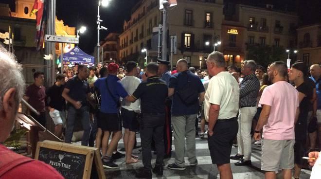 Sorrento rissa in Piazza Tasso