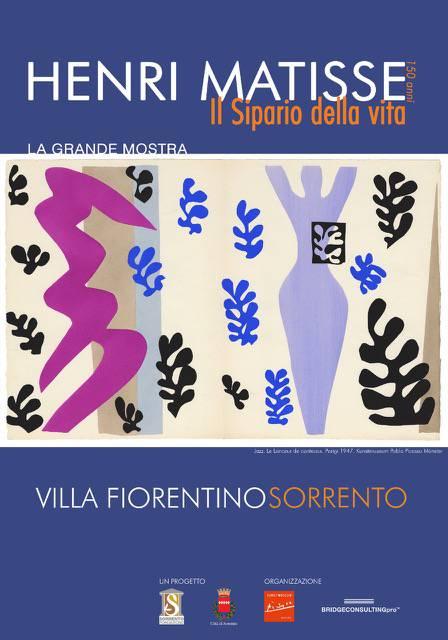 """Sorrentosi inaugura la mostra dedicata ad Henri Matisse """"Il Sipario della Vita"""""""
