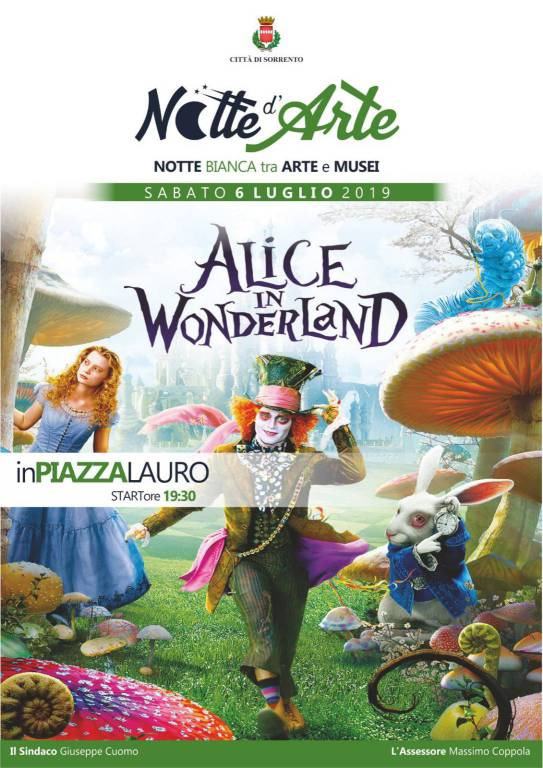 alice in wonderland una serata matta a sorrento