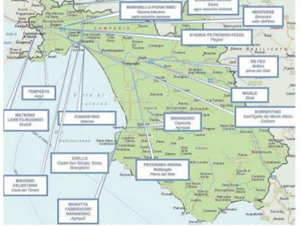Cartina Geografica Della Costiera Amalfitana.La Mappa Della Camorra In Provincia Di Salerno Tocca Anche Le