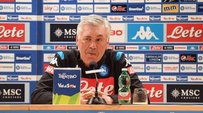 Dimaro,prima conferenza stampa per Ancelotti.Napoli piu' forte è competitivo