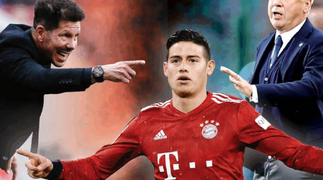 Il Cholo Simeone sfida Ancelotti per James