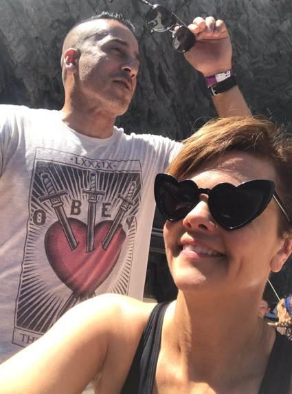 Kiersten Warren e Kirk Acevedo in vacanza tra Capri e la Costiera Amalfitana