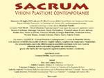 """Locandina-Manifesto - """"SACRUM Visioni plastiche contemporanee"""""""