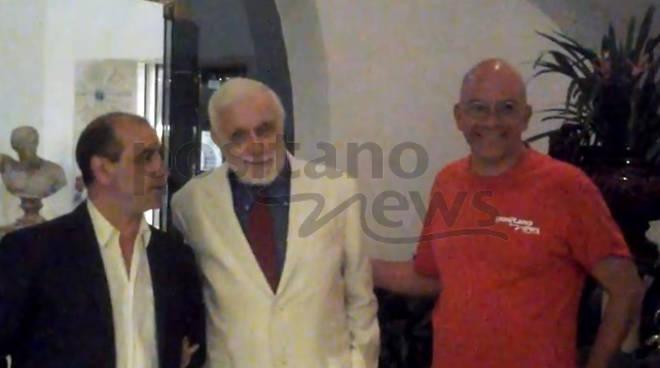 Luciano De Crescenzo a Positano