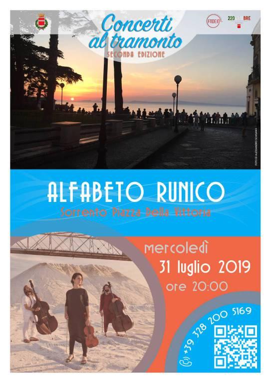 """SORRENTO: ALFABETO RUNICO AI """"CONCERTI AL TRAMONTO"""""""