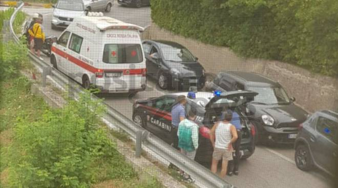 incidente Tramonti scooter bus