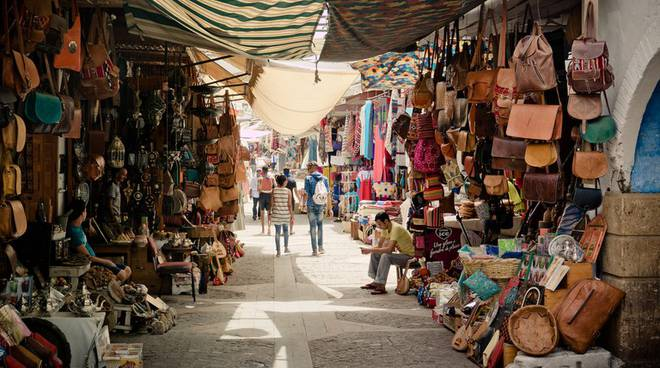 Marrakech marketplace compared to Italian stores