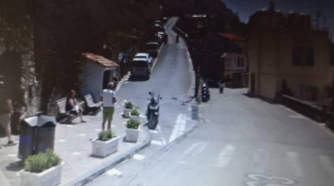 Praiano bivio di Vettica dove è avvenuto incidente mortale