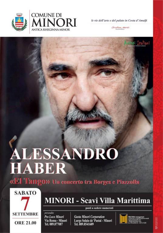 """A Minori Alessandro Haber e La Banda del Barrio   in   """"El Tango concerto tra Borges e Piazzolla"""""""