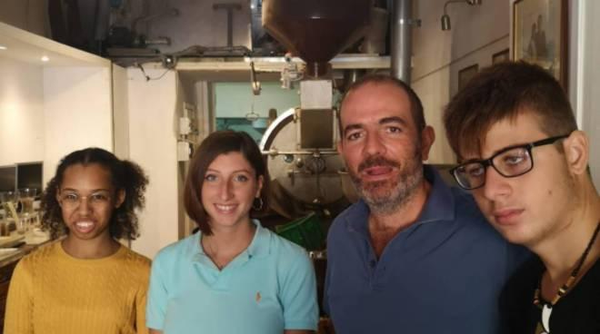 Alternanza Liceo Marone di Positanonews in visita al Caffè Maresca a Piano di Sorrento