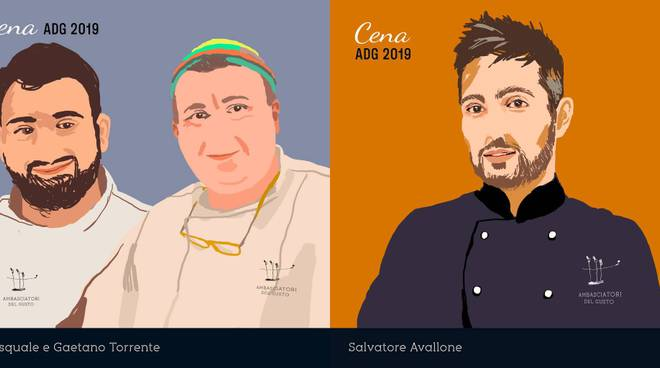 ambasciatori del gusto chef cetara pasquale torrente gaetano torrente salvatore avallone