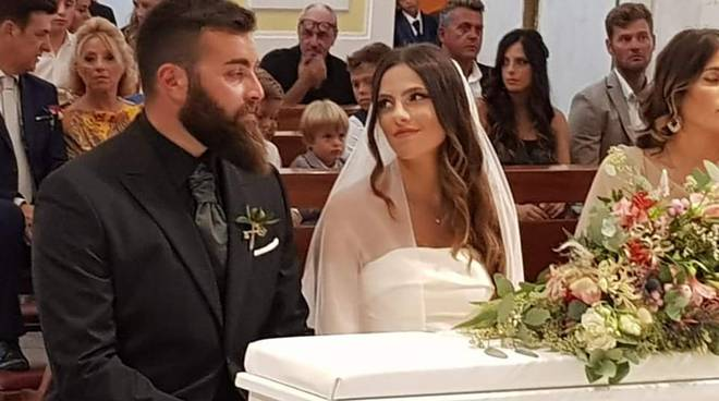 Lucienne e Antonio oggi sposi