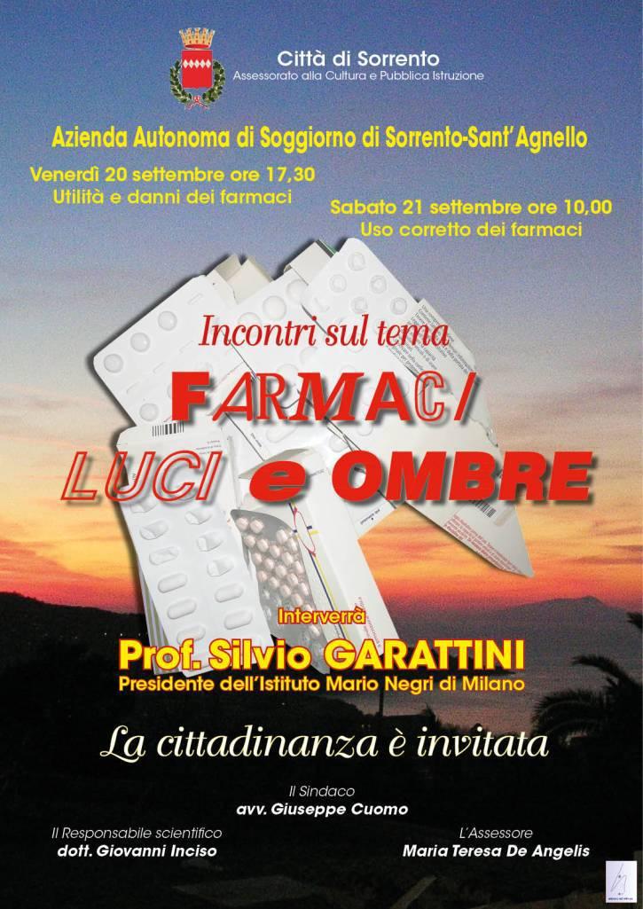 Sorrento: dibattito sui farmaci col professor Garattini ...