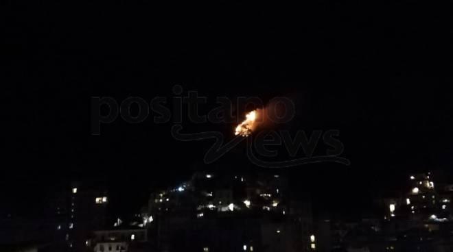 Incendio a Maiori San Lazzaro