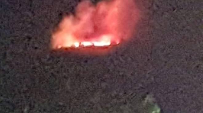 Incendio ad Arola Vico Equense