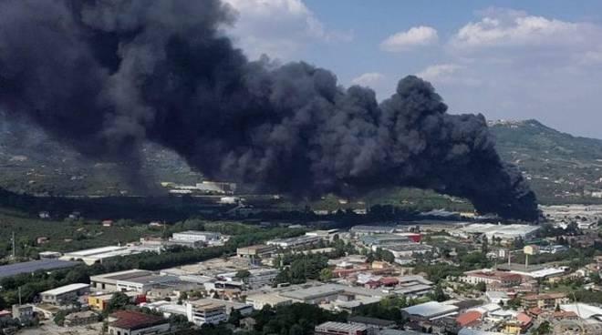 Incendio ad Avellino