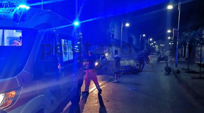 Piano di Sorrento incidente fra Viale dei Pini e Corso Italia