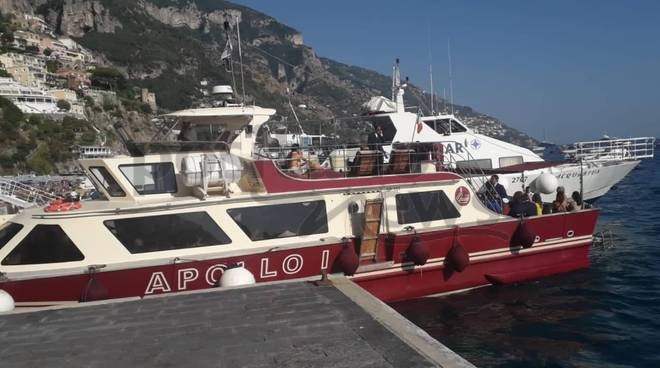 Positano nave che va ai Galli