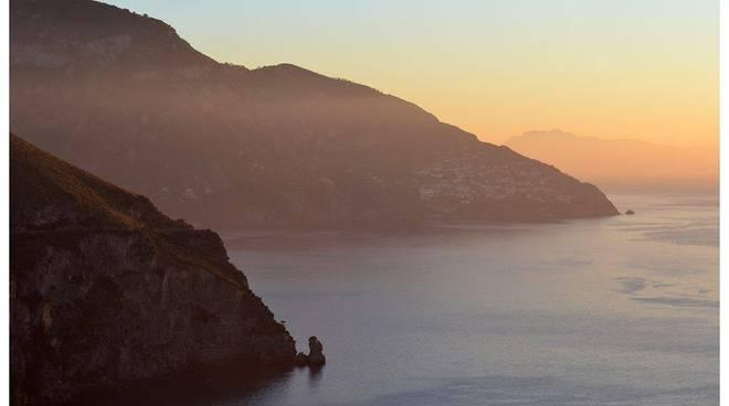 Positano tramonto visto da Tordigliano