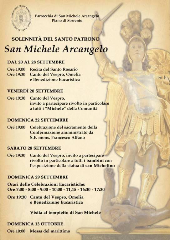 Programma San Michele Arcangelo