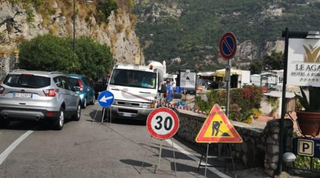 Traffico Positano - Tordigliano: anche i lavori dell'ANAS