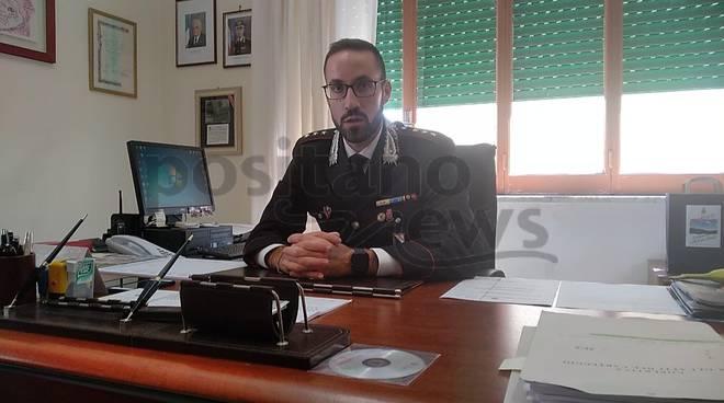 Capitano Umberto D'Angelantonio Compagnia Carabinieri Amalfi