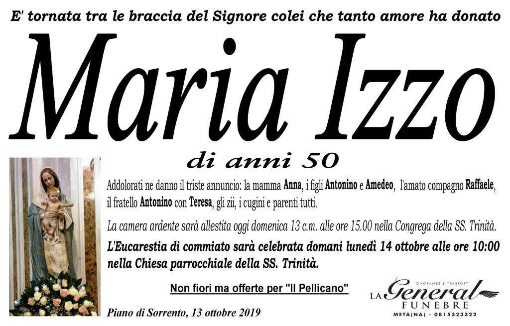 Lutto Maria Izzo