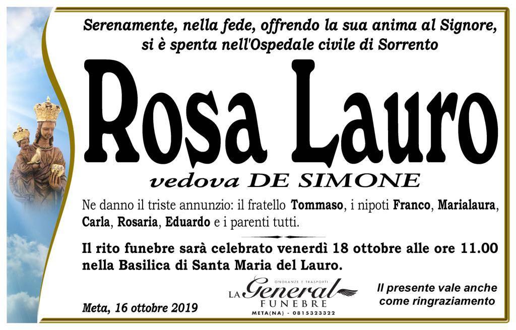 lutto Rosa Lauro
