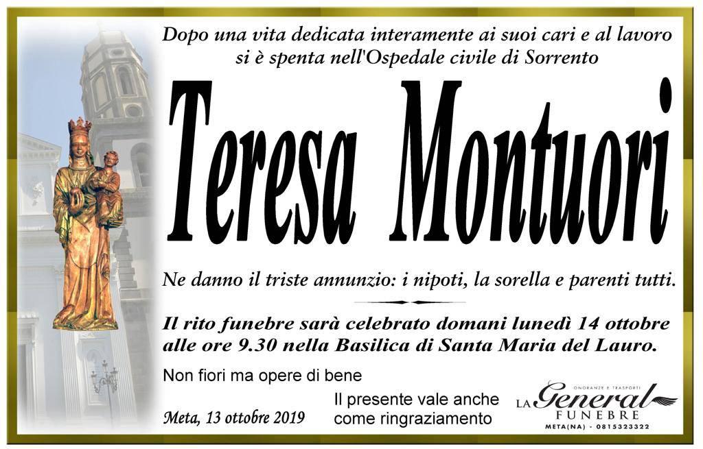 Manifesto Teresa Montuori