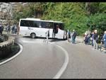 Positano, autobus in direzione Tordigliano perde il controllo: traffico intenso
