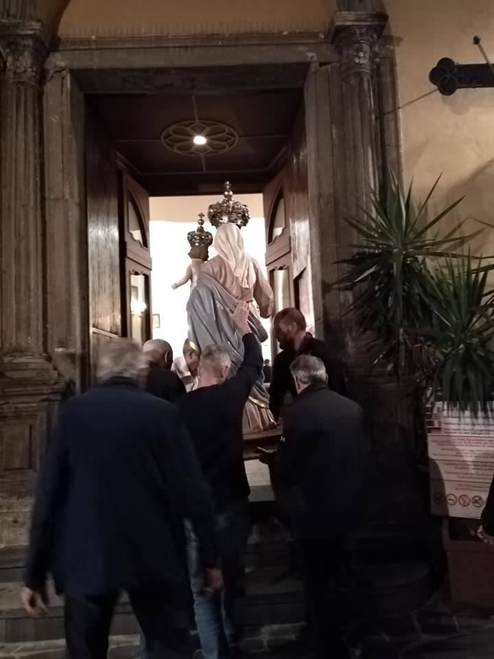 Positano. Deposizione Statua della Madonna del Rosario