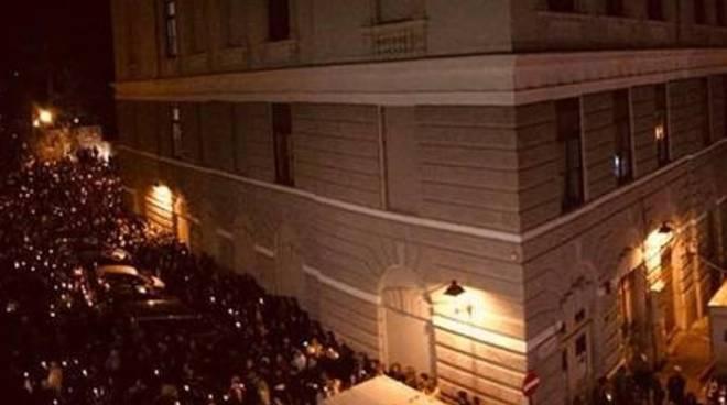 Trieste manifestazione per la Polizia