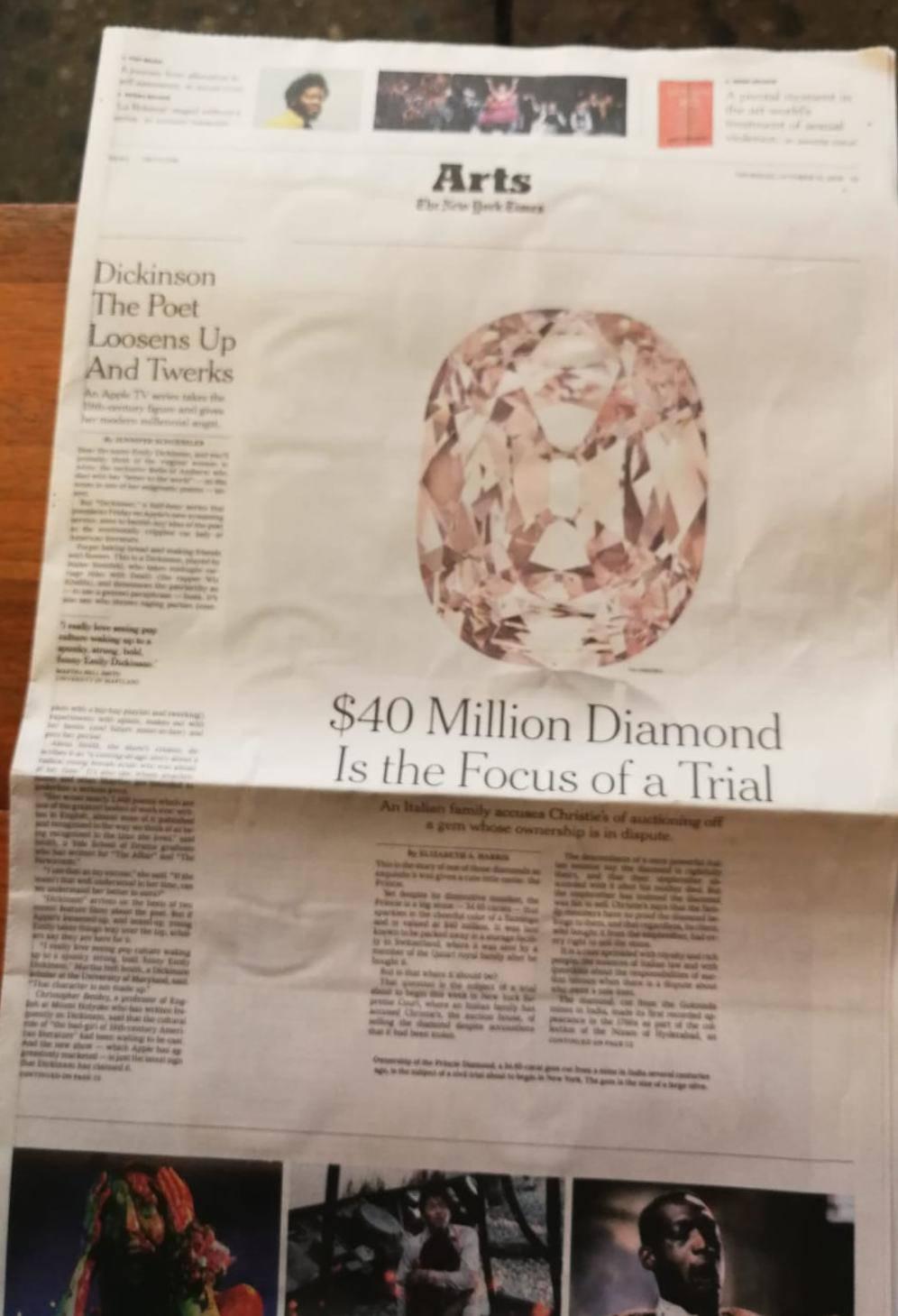 articolo diamante su new york times