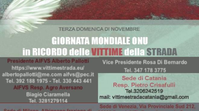 Giornata Mondiale in ricordo delle Vittime della strada: AIFVS Onlus attiva a Catania, Milano, Castelfranco Veneto e Fossò Venezia