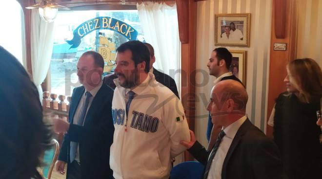 La visita di Matteo Salvini a Positano
