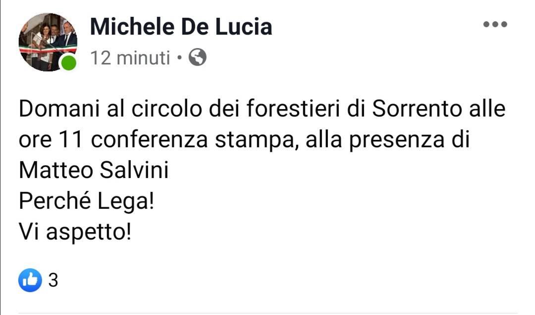 Michele De Lucia annuncio ufficiale