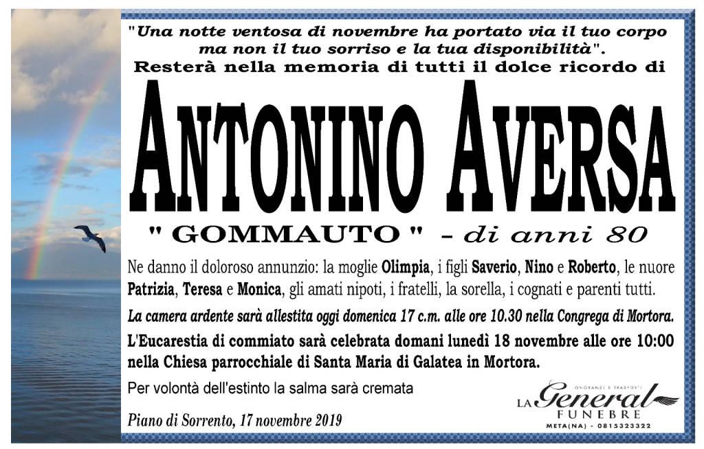 """Piano di Sorrento piange la perdita di Antonino Aversa """"Gommauto"""""""
