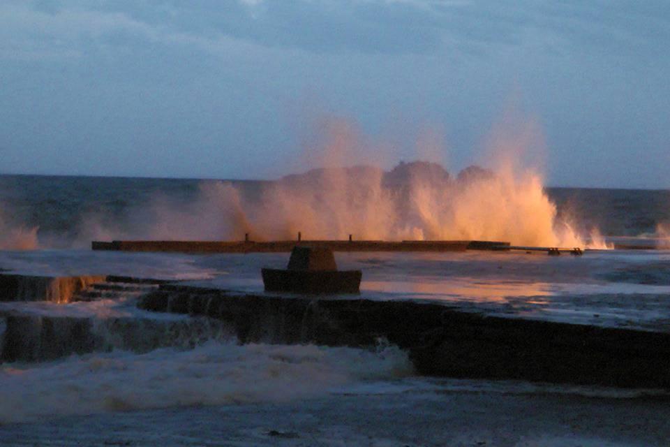 Positano, il mare in tempesta
