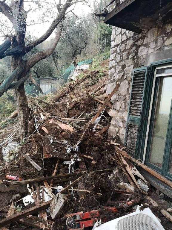Sant'Agnello. Smottamento ai Colli di Fontanelle, verifiche dei danni