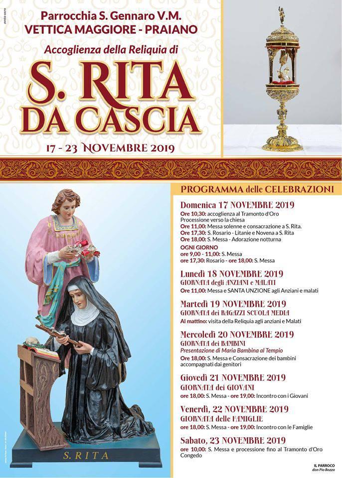 Santa Rita Da Cascia a Praiano programma