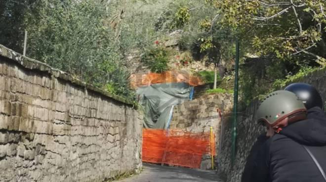 strada per alberi aperta ma ancora a rischio