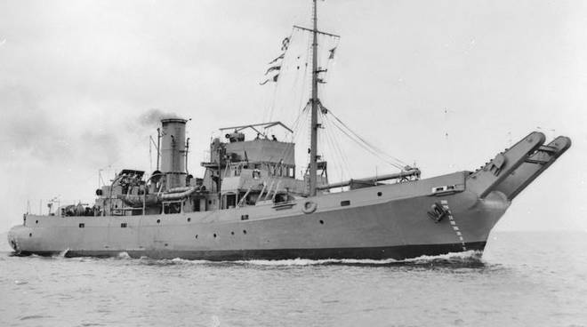 Ritrovata nave inglese affontada nel 1943 (Found English ship sunk in 1943)