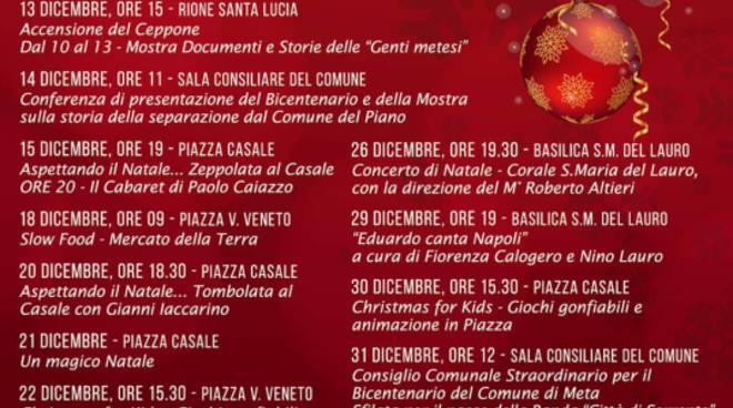 Meta: calendario festività natalizie