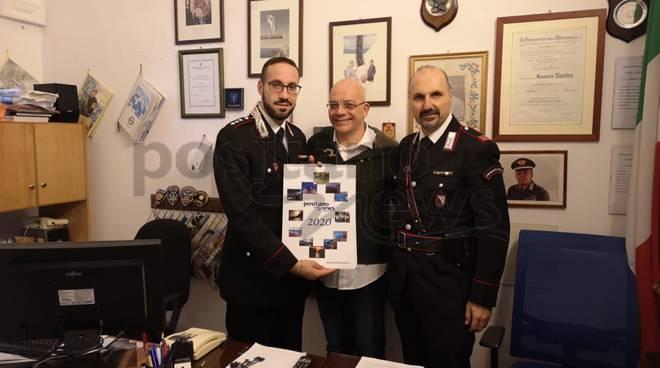 consegna calendario carabinieri positano