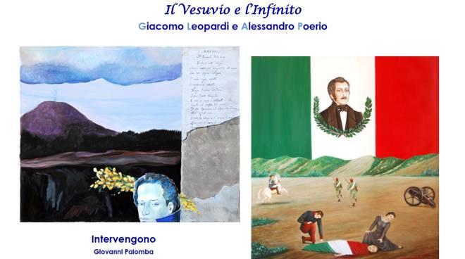 Locandina - Mostra dedicata a Giacomo Leopardi e ad Alessandro Poerio.