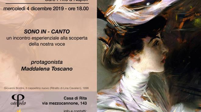 Maddalena Toscano al Cafè Philo.  Café Philo.