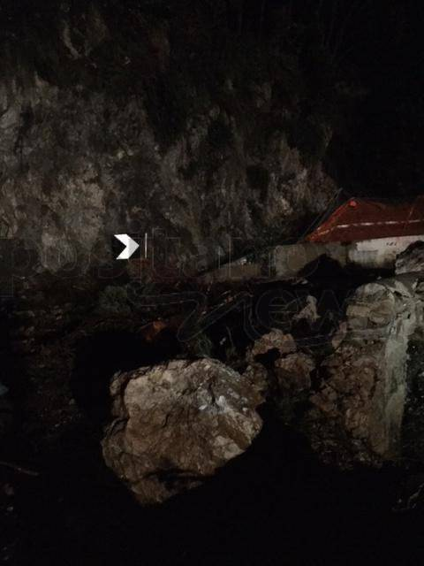 Maiori. La frana di rocce e detriti in località Capo d'Orso